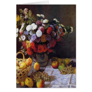 Flowers and Fruit Card