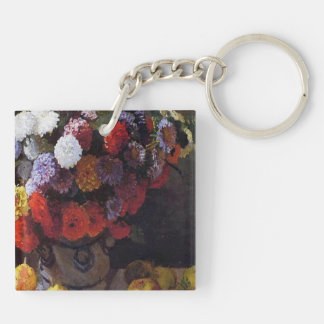 Flowers and Fruit Keychain