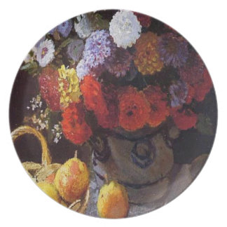 Flowers and Fruit Plate