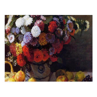 Flowers and Fruit Postcard