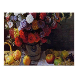 Flowers and Fruit Poster