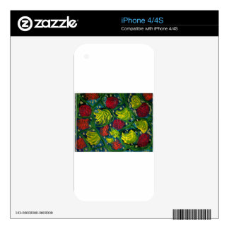 Flowers and fruit summer garden iPhone 4S skins