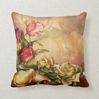 Flowers and Fruit Throw Pillow