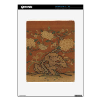 Flowers and Garden Rock - Chinese Silk iPad Decals