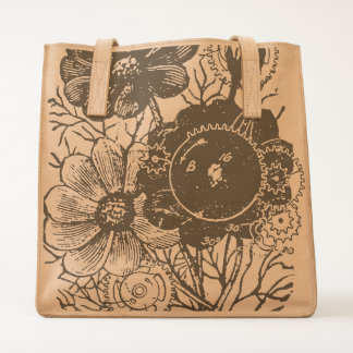 Flowers And Gears Tote