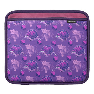 Flowers and Grapes Turtle Pattern Sleeve For iPads