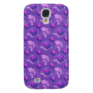 Flowers and Grapes Turtle Pattern Samsung Galaxy S4 Case
