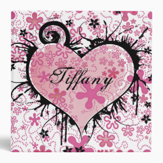 Flowers and Heart Avery Binder