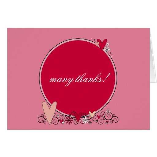 Flowers and Hearts* ~ MAKE IT ANY COLOR!* Stationery Note Card