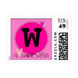 Flowers and Hearts Monogram* ~ MAKE IT ANY COLOR!* Postage Stamps