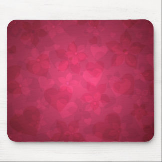 Flowers and Hearts Mouse Pad