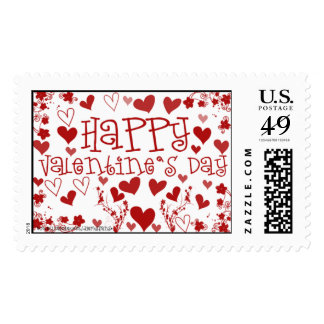Flowers And Hearts Postage