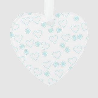 flowers and hearts,white