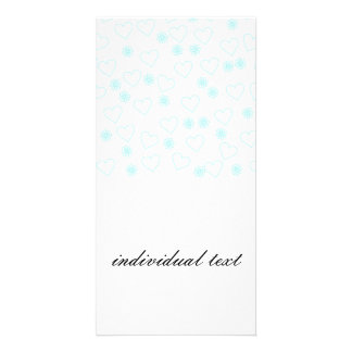 flowers and hearts,white photo card template
