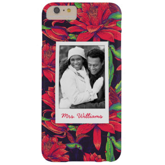 Flowers And Hummingbirds | Add Your Photo & Name Barely There iPhone 6 Plus Case