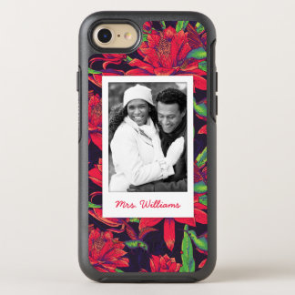 Flowers And Hummingbirds | Add Your Photo & Name OtterBox Symmetry iPhone 7 Case