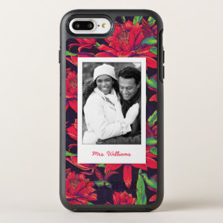 Flowers And Hummingbirds | Add Your Photo & Name OtterBox Symmetry iPhone 7 Plus Case