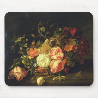 Flowers and Insects, 1711 (oil on panel) Mouse Pad