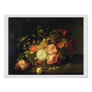 Flowers and Insects, 1711 (oil on panel) Poster