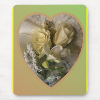 Flowers and lace mousepad