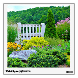 Flowers and Landscape Wall Decal