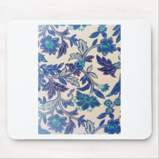 Flowers and leaves abstract design mouse pad