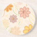 Flowers and Leaves Beverage Coaster