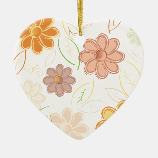 Flowers and Leaves Christmas Tree Ornament