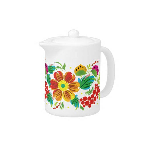Flowers and Leaves Teapot