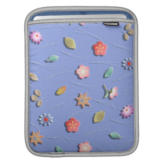 Flowers and leaves windy day iPad sleeve