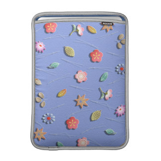 Flowers and leaves windy day MacBook air sleeve