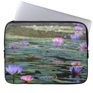 Flowers and Lilypads mf Laptop Sleeves