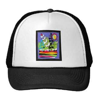 Flowers And Lines Abstract Trucker Hat