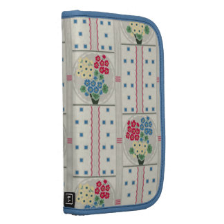 Flowers and Little Blue Squares Folio Planners