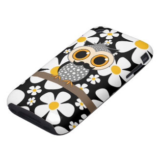 flowers and mustache owl iPhone 3 tough covers