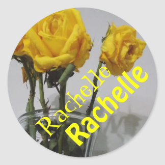 Flowers and name Rachelle Sticker