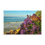 Flowers and Ocean Canvas Print