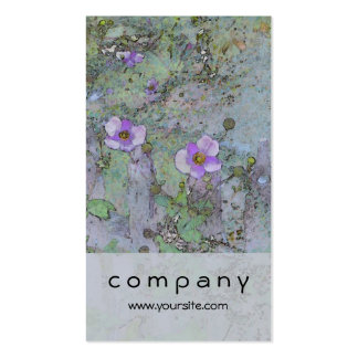 Flowers and Old Fence Double-Sided Standard Business Cards (Pack Of 100)