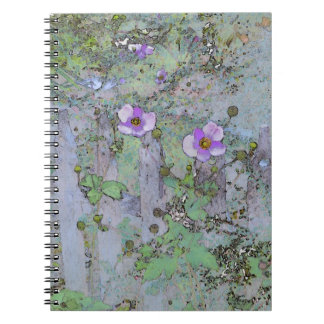 Flowers and Old Fence Spiral Notebook