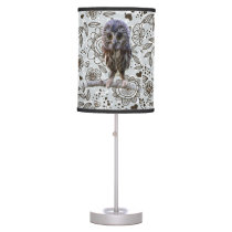 Flowers and Owl Lamp