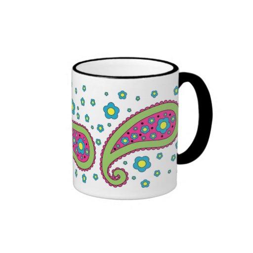Flowers and Paisley Mug