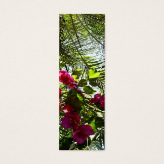 Flowers and Palm Tree Bookmark Mini Business Card
