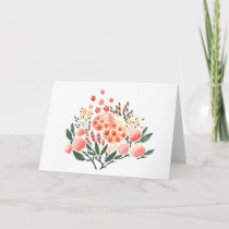 Flowers and Patterns Watercolor Greeting Card