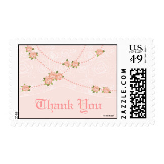 Flowers and Pearls Postage Stamp