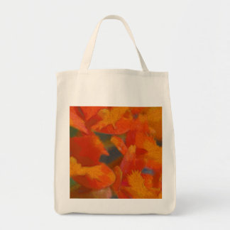 Flowers and Pencils Grocery Tote Bag