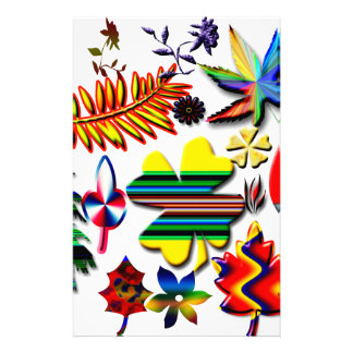 flowers and plants stationery paper