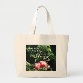 Flowers and quote about friendship canvas bag