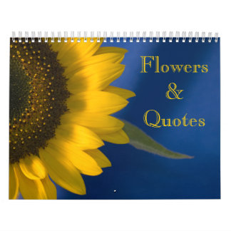 Flowers and Quotes Calendar
