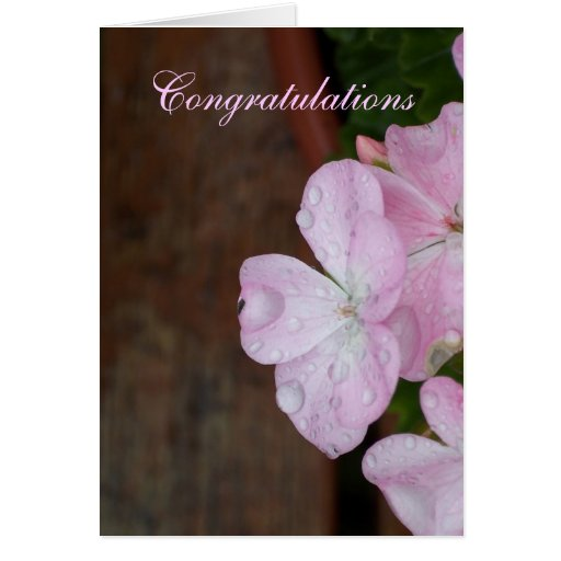 Flowers and Raindrops Custom Greeting Card
