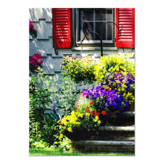 Flowers and Red Shutters Card
